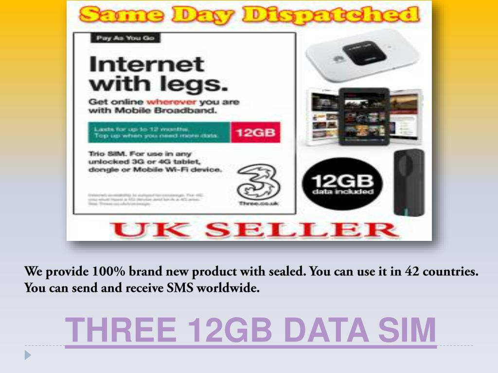 PPT - Three 3GB Data Sim PowerPoint Presentation - ID:7619946
