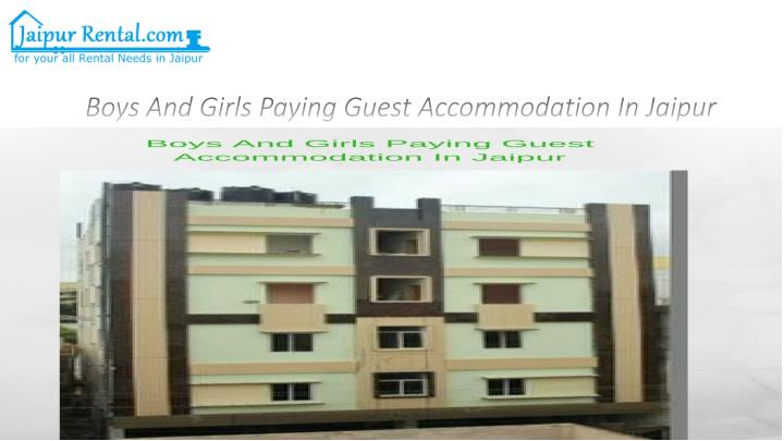 boys and girls paying guest accommodation in jaipur n.