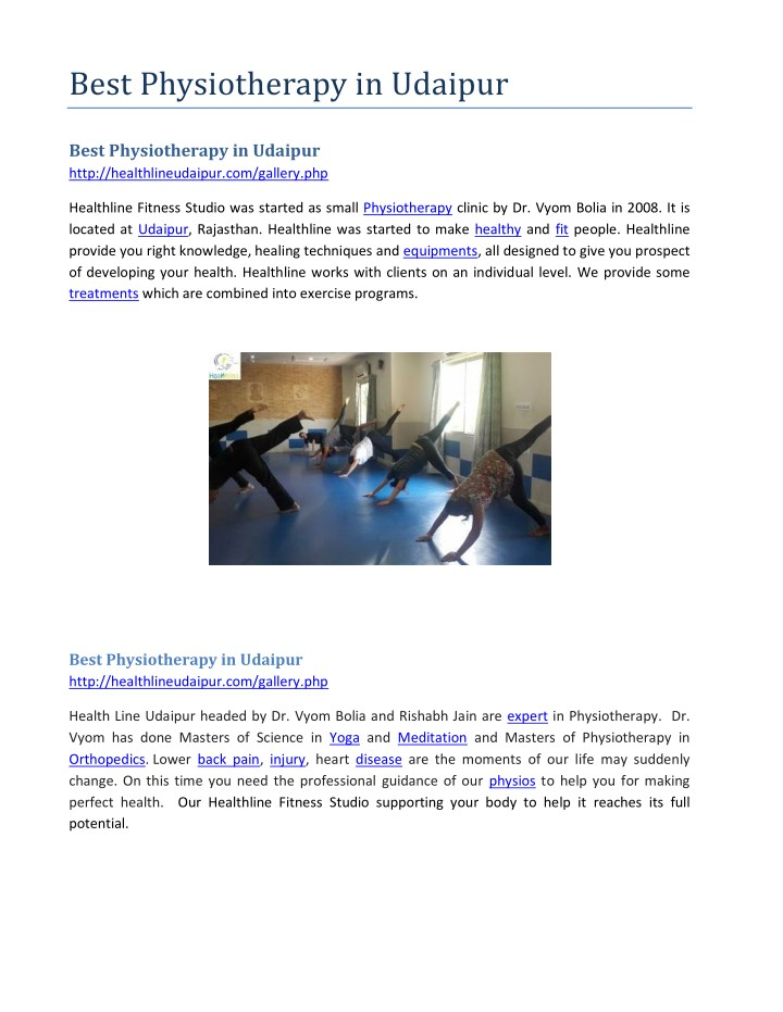 Best physiotherapy in udaipur