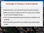 advantages of investing in rental properties