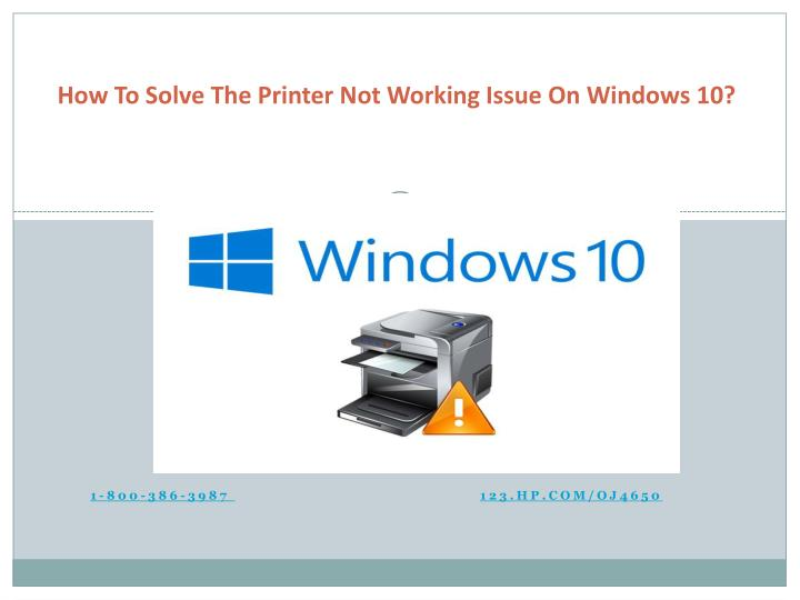 PPT - How to solve the printer not working issue on Windows