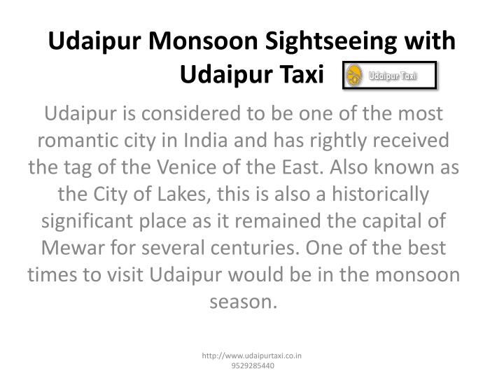 udaipur monsoon sightseeing with udaipur taxi n.