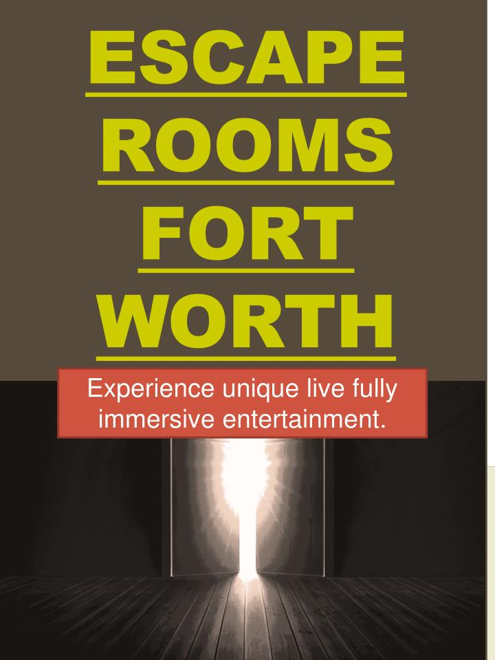 escape rooms fort worth n.