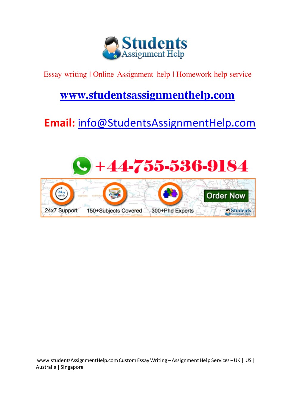 Writing homework help online