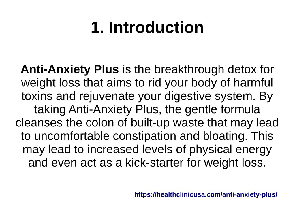 PPT - Anti-Anxiety Plus @ https://healthclinicusa com/anti