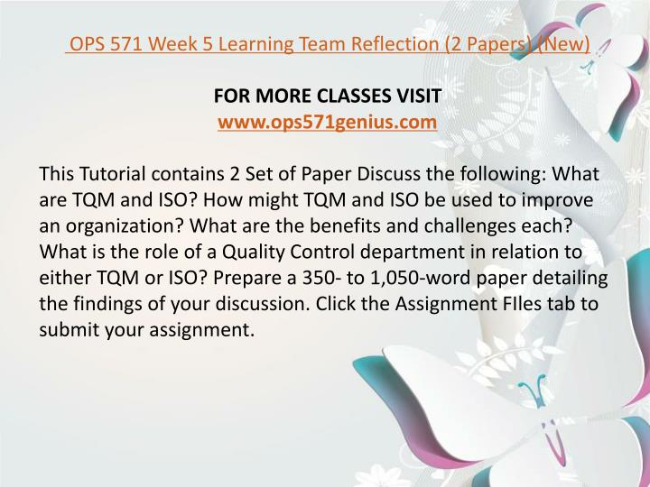 ops 571 new week 6 team Ops 571 week 4 team assignment supply chain design paper (2 papers) (new) this tutorial was purchased 37 times & rated a by student like you this tutorial contains 2 set of paper review the riordan manufacturing virtual organization.