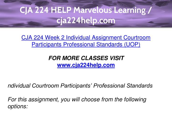 cja224 week 2