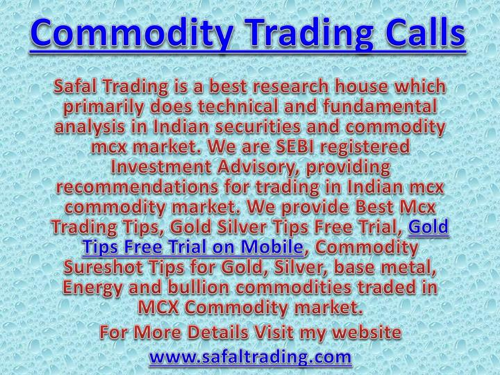 commodity trading calls n.
