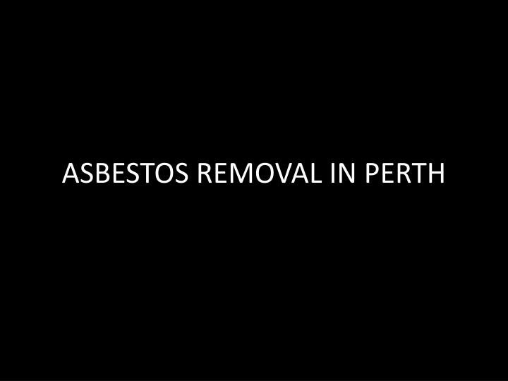 asbestos removal in perth n.