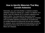 how to identify materials that may contain