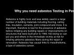 why you need asbestos testing in perth
