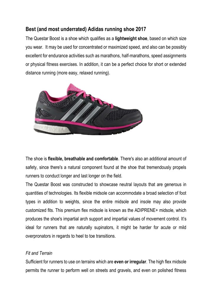 best and most underrated adidas running shoe 2017