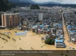 a general view shows a flooded area in liuzhou
