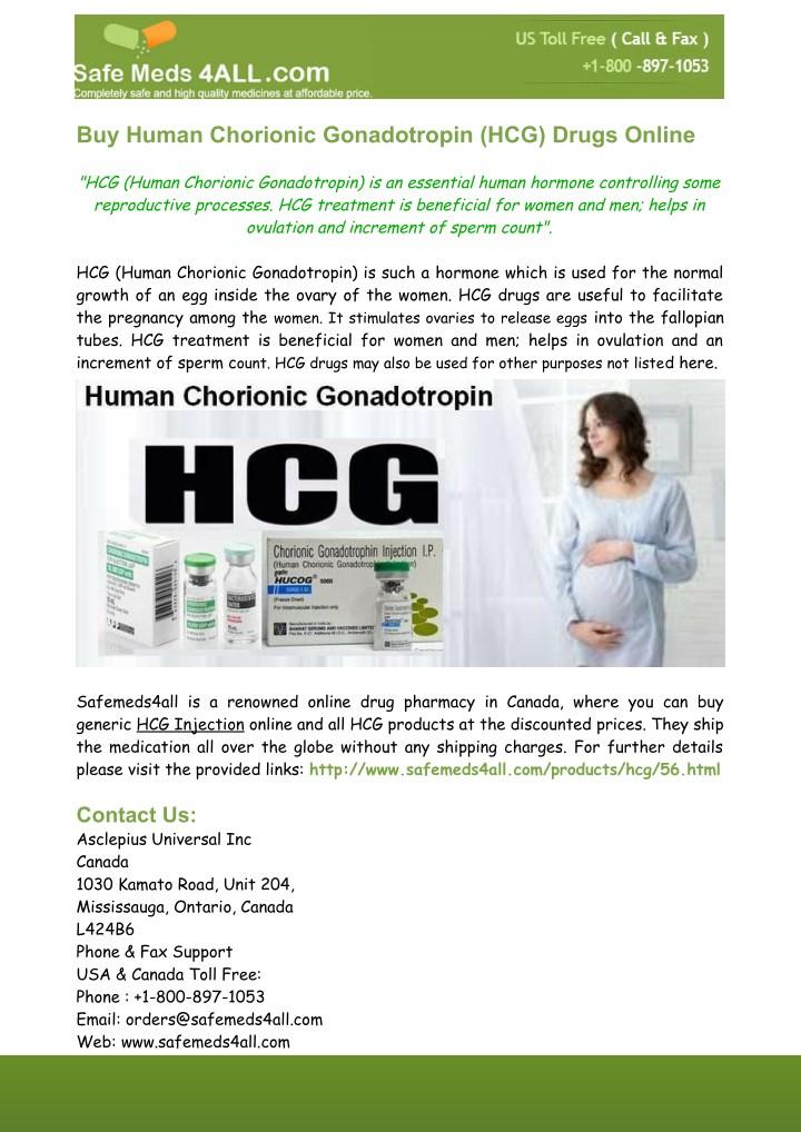 PPT - Buy Human Chorionic Gonadotropin (HCG) Drugs Online