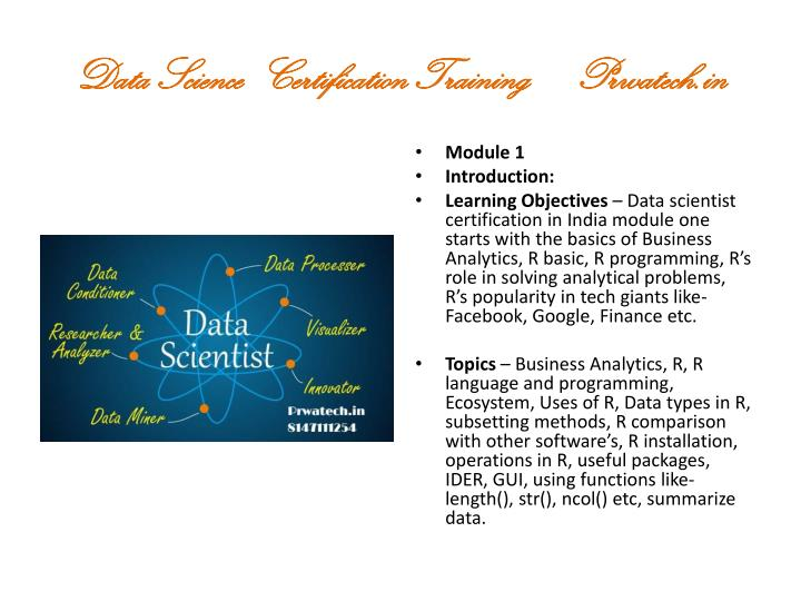 PPT - Data Scientist Certification In Bangalore Prwatech PowerPoint ...