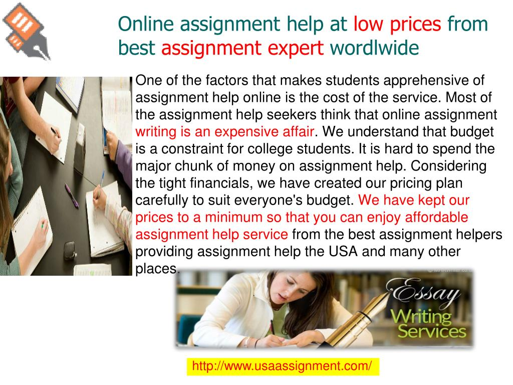 Pricing | Assignment Experts