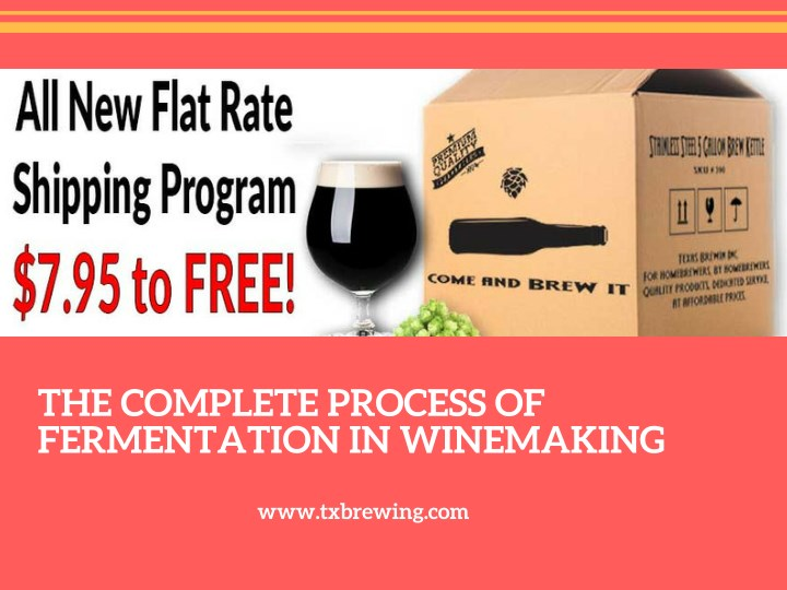 the complete process of fermentation in winemaking n.
