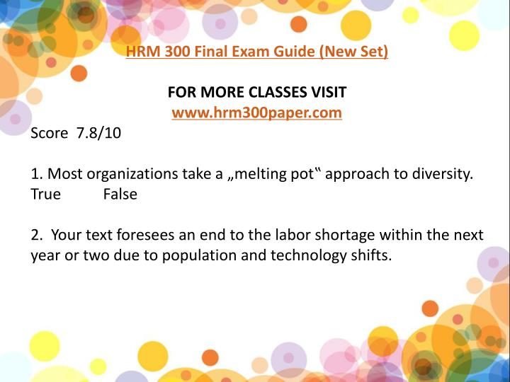 hrm 594 final exam Read this essay on hrm 593 final exam answers come browse our large digital warehouse of free sample essays get the knowledge you need in order to pass your classes and more.