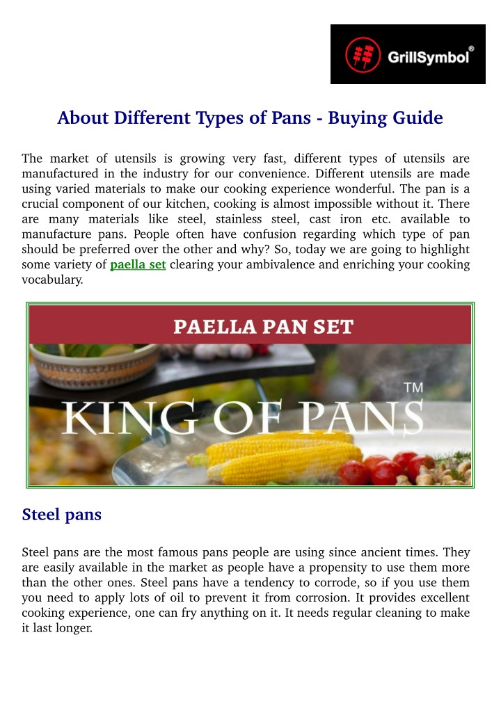 about different types of pans buying guide n.