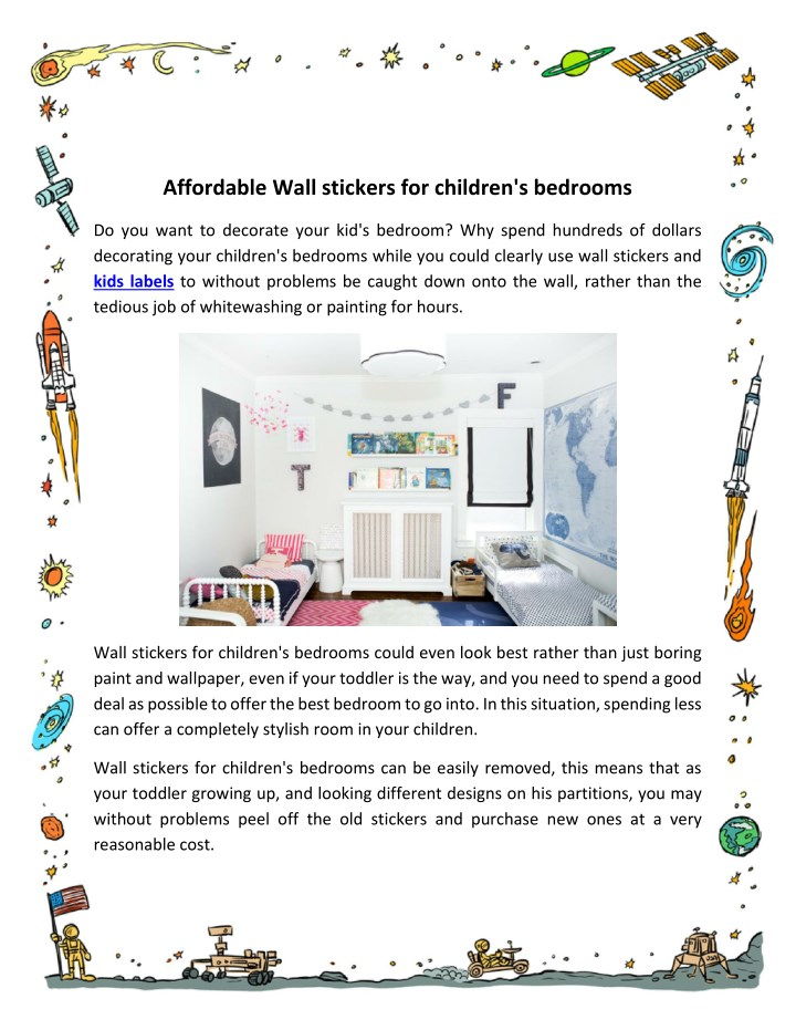 affordable wall stickers for children s bedrooms n.
