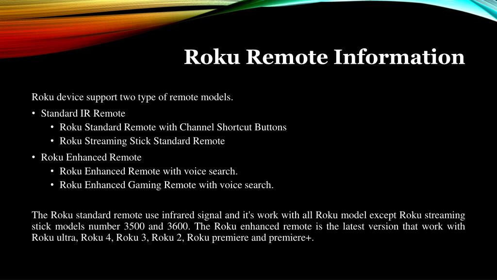 PPT - Roku Remote Information And Troubleshooting PowerPoint