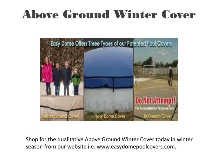 above ground winter cover n.