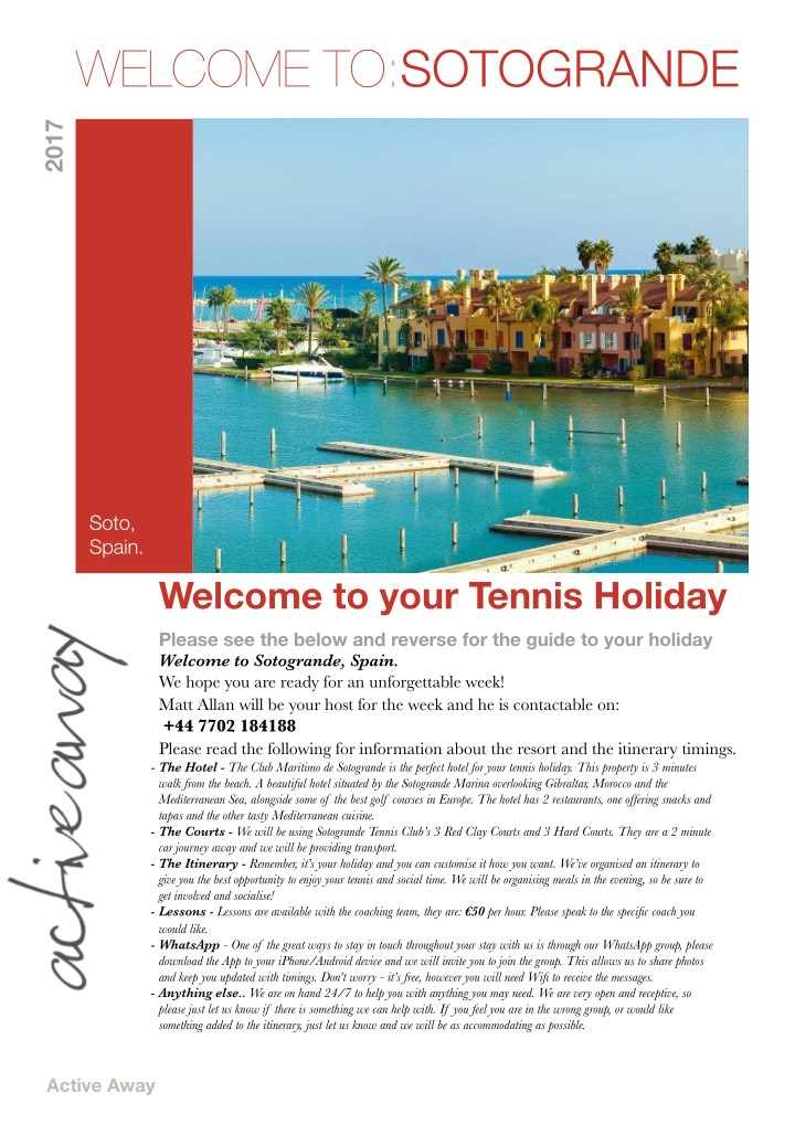 welcome to sotogrande n.