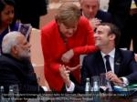 french president emmanuel macron talks to german
