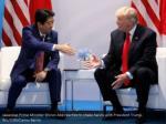 japanese prime minister shinzo abe reaches