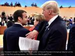 u s president donald trump claps the shoulder