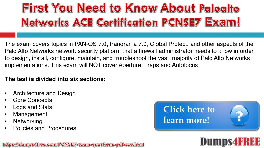 PPT - PCNSE7 Paloalto Networks ACE Certification PCNSE7 Exam