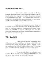 benefits of bulk sms