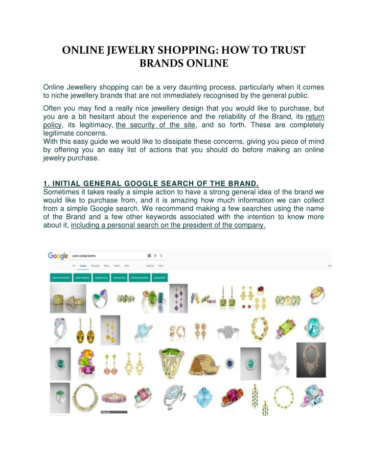 online jewelry shopping how to trust brands n.