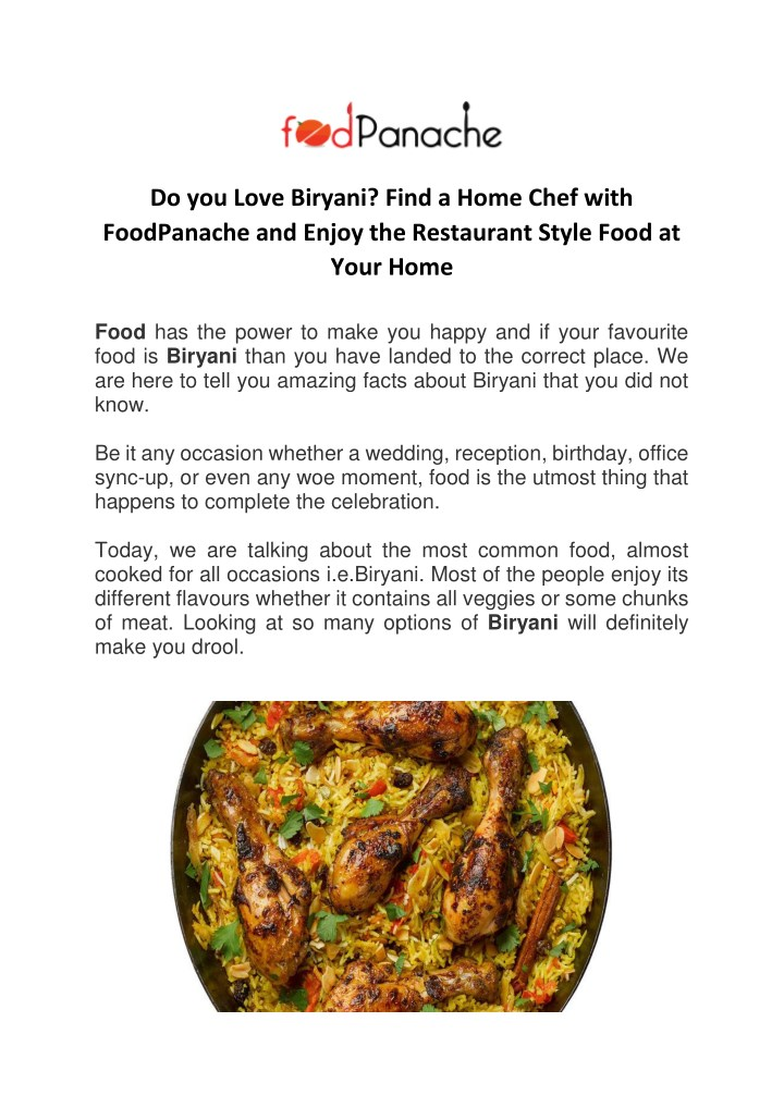 do you love biryani find a home chef with n.
