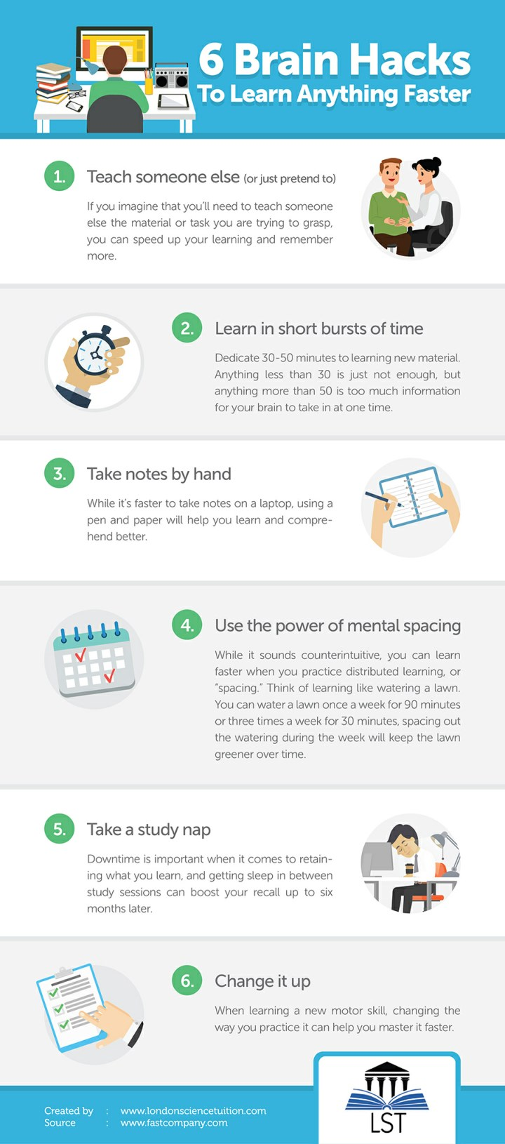 PPT - 6 Brain Hacks To Learn Anything Faster PowerPoint