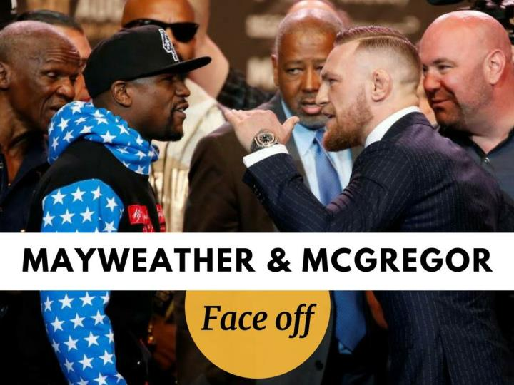 Mayweather and mcgregor face off