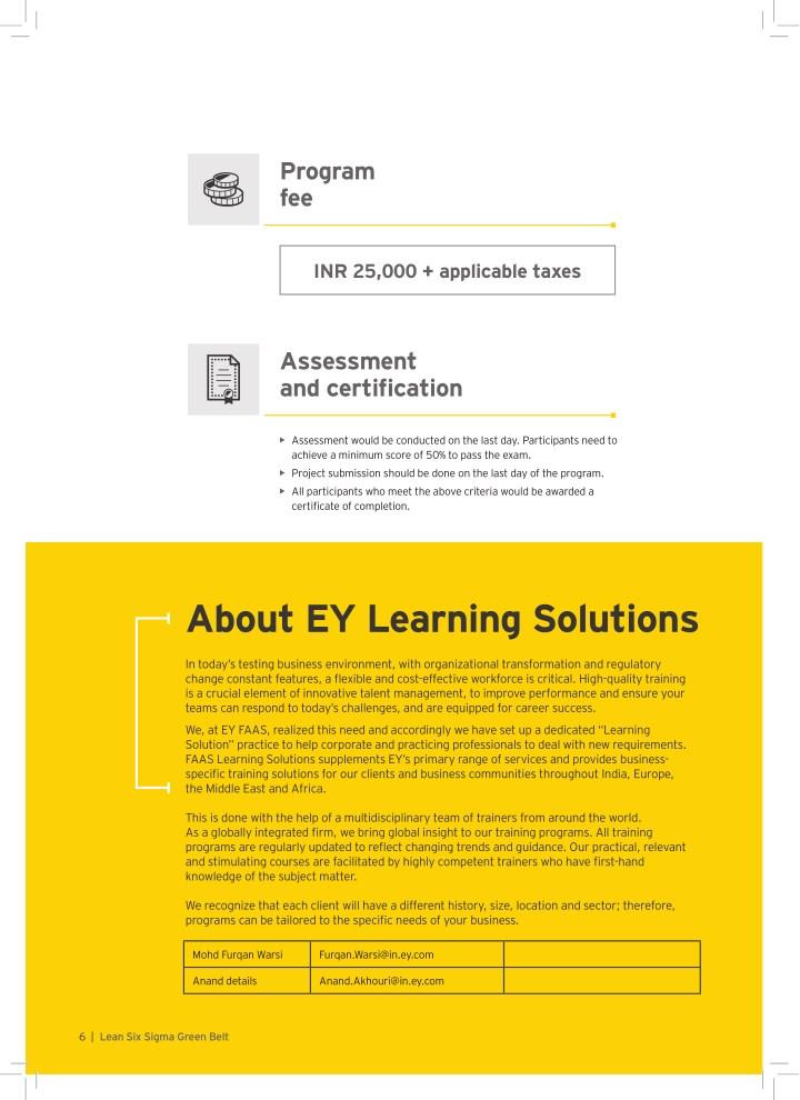 Ppt Lean Six Sigma Green Belt Training Certification Program