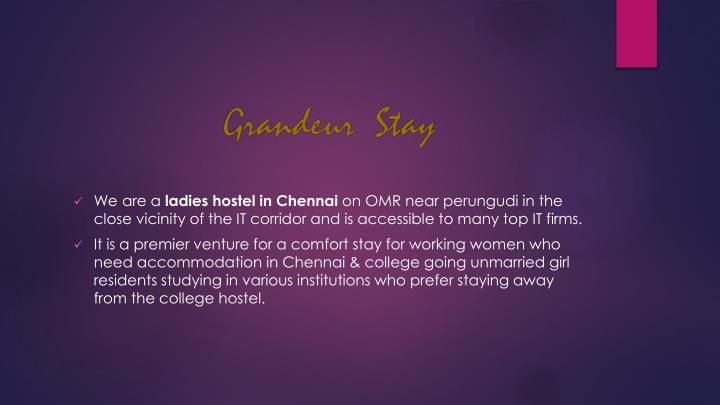 we are a ladies hostel in chennai on omr near n.
