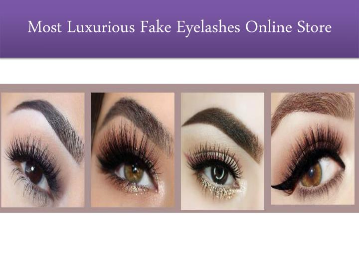 most luxurious fake eyelashes online store n.