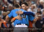 aaron judge of the new york yankees hugs national