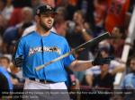 mike moustakas of the kansas city royals reacts