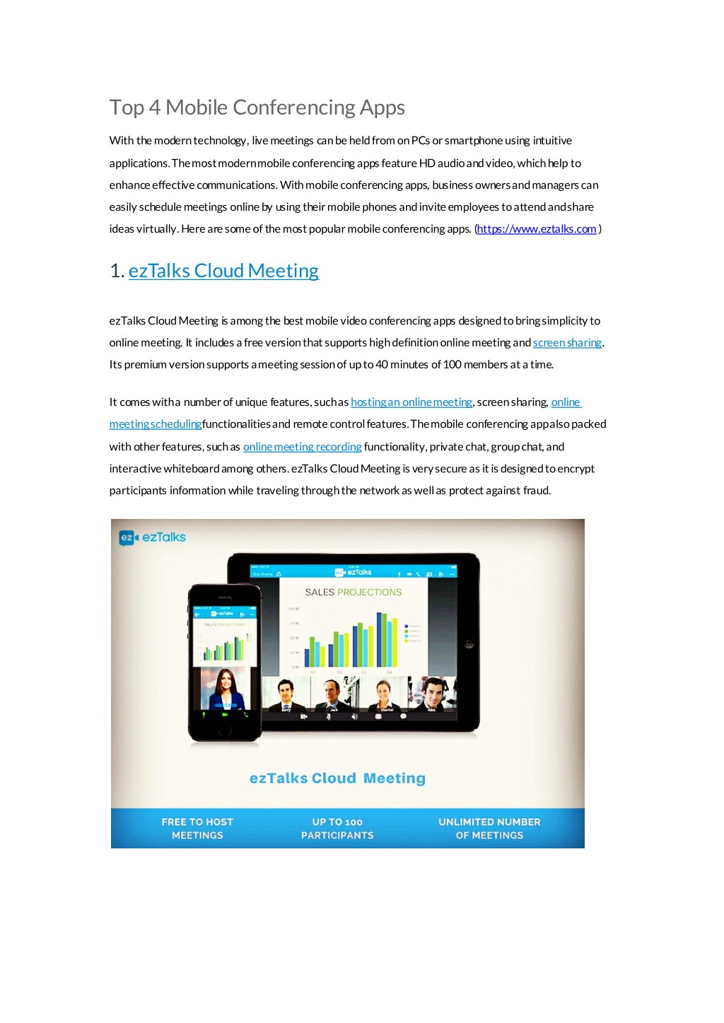 PPT - ezTalks: Mobile Conferencing Apps You Must Know PowerPoint