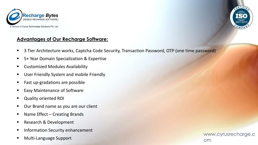 PPT - Mobile Recharge Software Company in India PowerPoint