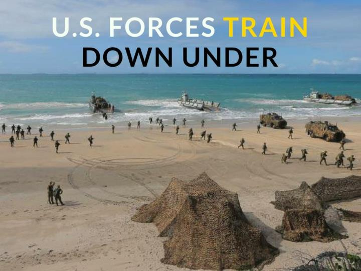 u s forces train down under n.
