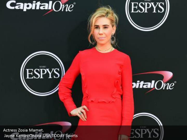 Actress Zosia Mamet.  Jayne Kamin-Oncea-USA TODAY Sports