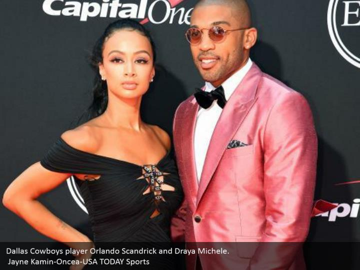 Dallas Cowboys player Orlando Scandrick and Draya Michele.  Jayne Kamin-Oncea-USA TODAY Sports