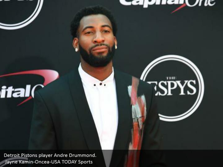 Detroit Pistons player Andre Drummond.  Jayne Kamin-Oncea-USA TODAY Sports