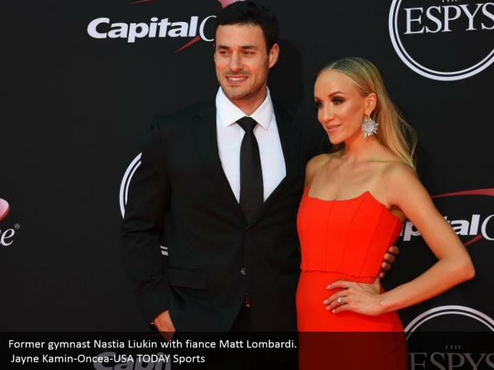Former gymnast Nastia Liukin with fiance Matt Lombardi.  Jayne Kamin-Oncea-USA TODAY Sports