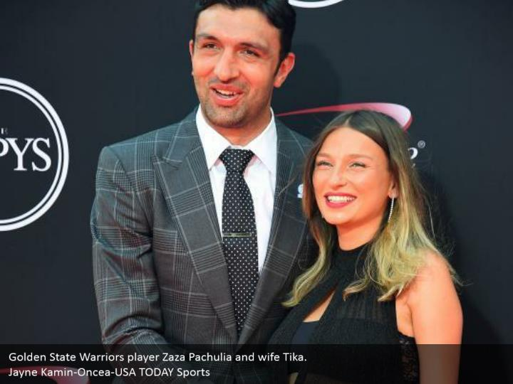 Golden State Warriors player Zaza Pachulia and wife Tika. Jayne Kamin-Oncea-USA TODAY Sports