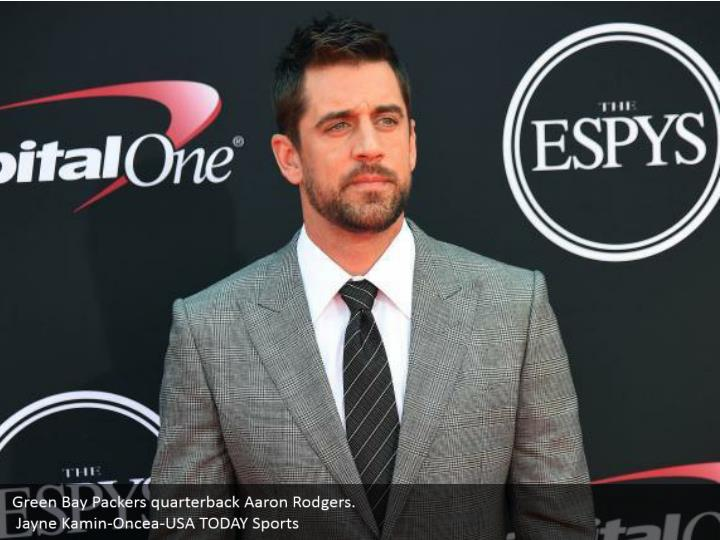 Green Bay Packers quarterback Aaron Rodgers.  Jayne Kamin-Oncea-USA TODAY Sports